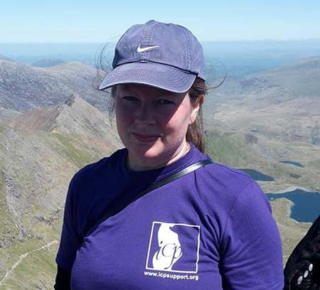 Mags Barr on Snowdon