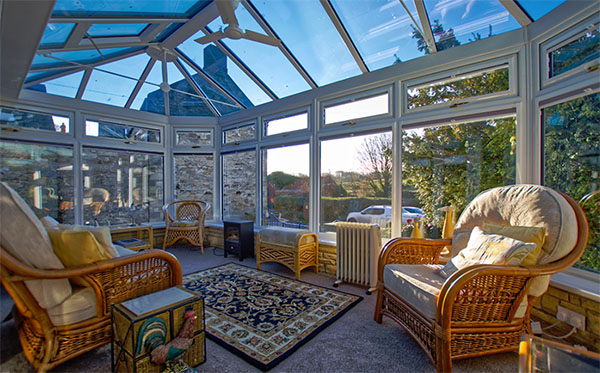 Riverview Cottage conservatory